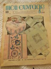 MON OUVRAGE 1938 n°362 lingerie barboteuse garniture lit sac tapisserie casaquin