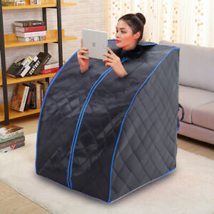 Infrared Sauna Dry Steam Tent Home SPA Room Full Body Steaming Detox Loss Weight