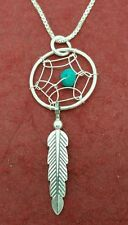 Dream Catcher Necklace Sterling silver 925 pendant n chain dreamcatcher feather