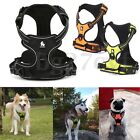Dog Pet Reflective Harness Padded Soft Mesh Collar Outdoor Safety Vest Handle