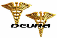 Medical Officer Collar Brass Badge Pin Army Doctor Medic Uniform Insignia
