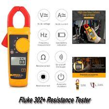 Fluke 302+ Handheld Digital Clamp Meter AC/DC Current Voltage Resistance Tester