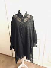 NWT THE BIG SHIRT By CAROLE TOMKINS  Sheer Rose 🌹 Blouse Top Plus Size 3 3X 4X