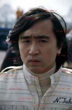 Noritake Takahara Kojima F1 retrato japonés Grand Prix 1977 fotografía