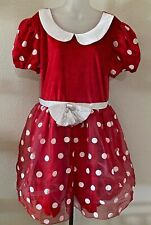 Disney Store Minnie Mouse Costume Dress Women's Size XXL Gloves and Ears
