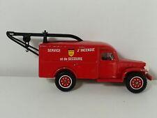 Voiture camion pompier 1/50 SOLIDO France DODGE WC54 WC 54 WC-54 34 dépanneuse