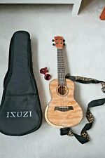 More details for ukulele isuzi qm-t quilted maple tenor ukulele with accessories-excellent