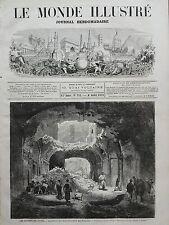 LE MONDE ILLUSTRE 1871 N 743 RUINES DE PARIS,LA GALERIE DES STUCS AUX TUILLERIES