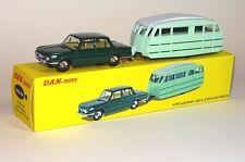 DAN TOYS BMW 1500 Vert Foncé et Caravane Henon Vert Clair / Blanc    DAN-A04