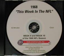 """""""This Week In The NFL"""" DVD (weeks 9 & 10) Games of Nov.10 & 17, 1968"""
