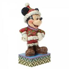Disney Showcase Santa Mickey Mouse Figurine Merry Christmas  Decoration
