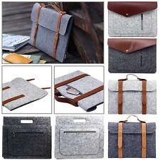 "11.6"" Notebook Laptop Woolen Felt Sleeve Case Cover Pouch Bag w/Accessory Pocket"