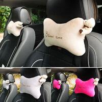 Cute 2pcs Car Seat Head Neck Rest Cushion Pillow Headrest Relax Headrest Pillow