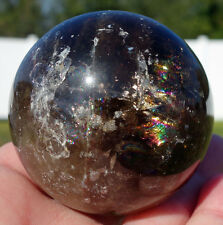 Genuine Black MORION Smoky Quartz Crystal BALL Smokey SCRYING Sphere Wow