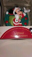 Disney Mickey Mouse light up Christmas ornament NIB