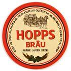 Beer Coaster Hopps Bräu Lager Quebec Micro Brewed German Style Beer
