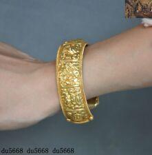 Tibetan Buddhism silver 24k gold Gilt eight treasures symbol bracelet Hand ring