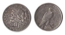 Fantasy Issue Novelty Coin 1923 Peace Dollar W/ Skull Zombie Head