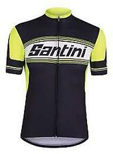 Santini mens cycling jersey black fluro medium new with tags freepost