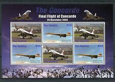 Gambia 2006 MNH CONCORDE finale volo 4V M / S Filton a JET piani FRANCOBOLLI DELL' AVIAZIONE