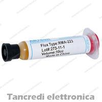 FLUSSANTE SALDATURE FLUX PASTA GEL SALDANTE AMTECH RMA-223 SCHEDA MADRE 10cc