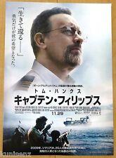 CAPTAIN PHILLIPS Original Japan Chirashi Movie Mini Poster 2013 Tom Hanks Flyer
