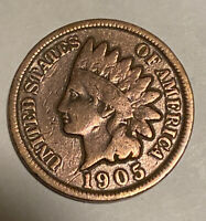 FREE SHIP! 1905 Indian Head Cent - 100+ Year Old Penny -US Copper Type Coin L10