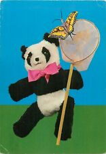 Teddy puppet & butterfly postcard