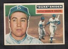 """DUKE"" SNIDER #150-Brooklyn Dodgers Outfield 1956 Topps Nm"