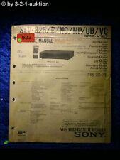 Sony Service Manual SLV 825 / B / NC / NP / UB / VP Video Recorder (#0923)
