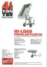 Settimane Rimorchio 3,5 & 4,5 TON hi-load popolari Plus 40 opuscolo
