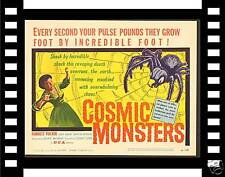 COSMIC MONSTERS '58 MINT ORIGINAL TITLE CARD W/ SPIDER!