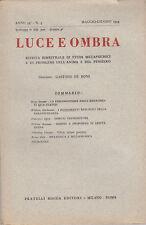 PARAPSICOLOGIA LUCE E OMBRA RIVISTA STUDI METAPSICHICI N 3 MAGGIO GIUGNO 1954