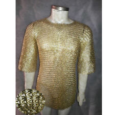 Brass Chainmail Shirt 9 mm Flat riveted With Warsar Medium Size