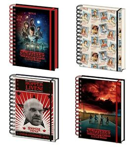 Genuine Stranger Things A5 Wiro Hardback Notebook Note Pad Poster 3D Hopper