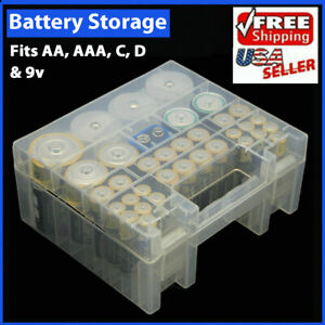 Battery Box Storage Case Holder Organizer Plastic for AA AAA C D 9V Batteries