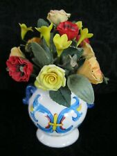 "2002 Forget Me Nots Willitts Designs ""Italian Garden"" Miniature Roses/Flower Pot"