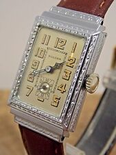 Serviced Vintage Bulova Classic White Gold Filled 8AN 15 jewel gents watch 1920s