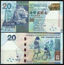 Hong Kong 2016 HSBC $20 Note UNC