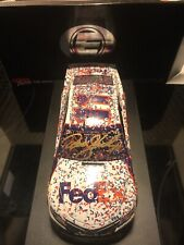 DENNY HAMLIN & Joe Gibbs 2019 FEDEX DAYTONA 500 RACED WIN ELITE 1/24 Signed Auto