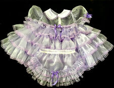 Adult Sissy Baby Frilly Ruffles Baby Dress Set L