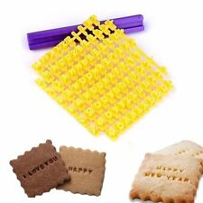 Alphabet Letter Number Biscuit Cookie Press Stamp Embosser Cake DIY Mould New