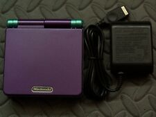 Game Boy Advance SP Handheld System AGS001 W/Glass Screen Purple +Green