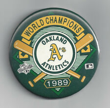 1989 Oakland Athletics World Series Champs button pin Jose Canseco Mark McGwire