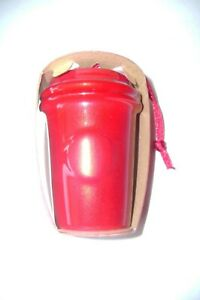 New in package Starbucks Ceramic To-Go Paper Cup        Red Ornament 2014