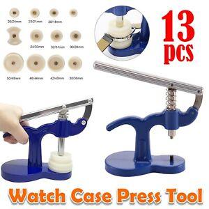13Pcs Watch Back Case Press Opener Crystal Glass Closer Fitting Repair Tool Set