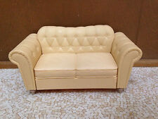 2003 Barbie Doll My Scene Cafe Coffee Shop Yellow Sofa Couch Loveseat Furniture