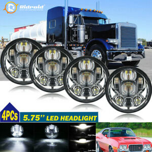 "4pcs 5.75"" 5-3/4 Inch LED Projector Headlight H5001 H5006 For Plymout Pontiac US"