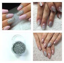Acrylic Powder Pre Mix Glitter Nail Art Extension Designs Builder Silver