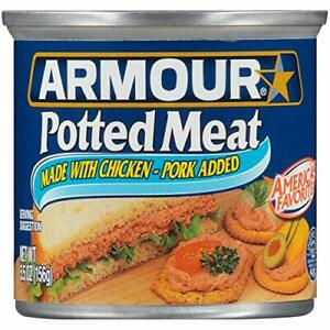 Armour Potted Meat, Keto Friendly, Chicken & Pork 4.6 oz [24-Cans]